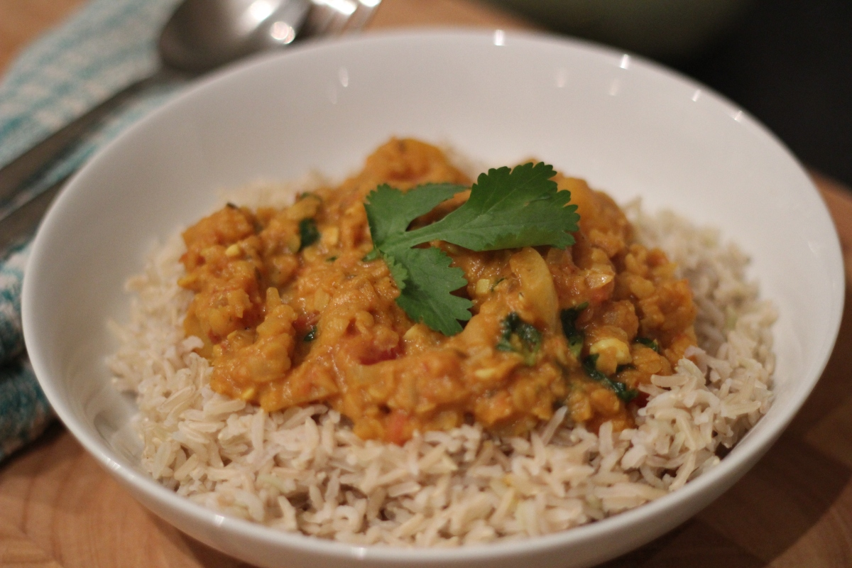 Pumpkin, Lentil and Coconut Curry