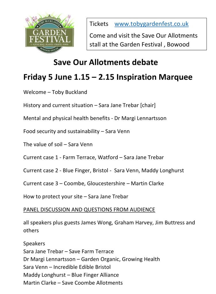 Save Our Allotments Debate