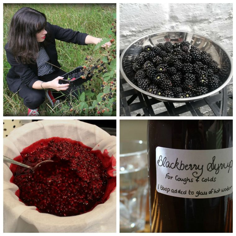 Making Blackberry Syrup