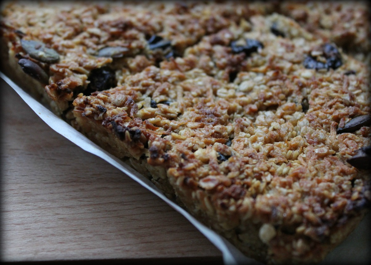 Parsnip and Prune Flapjacks