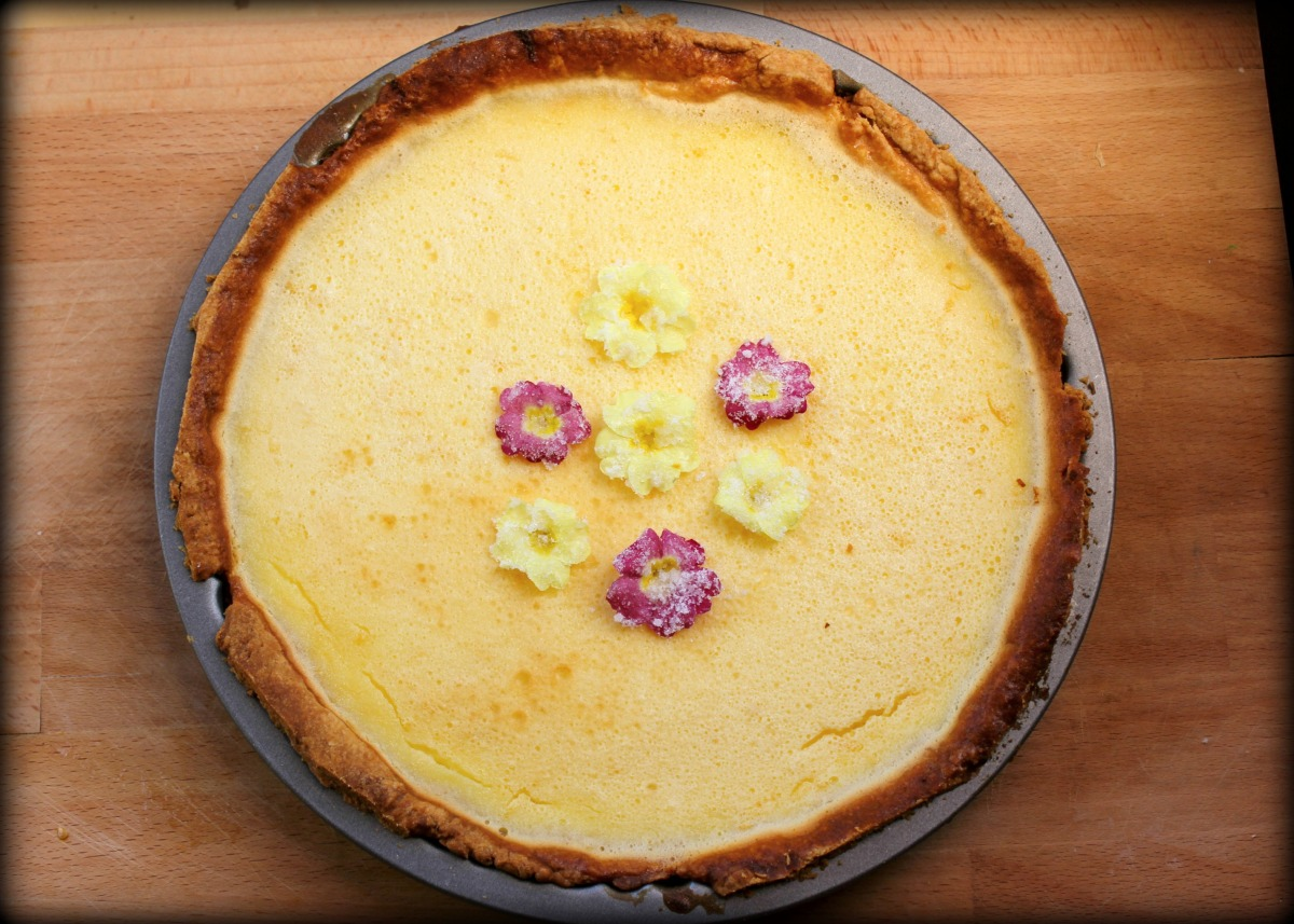 Lemon, Lavender and Primrose Tart