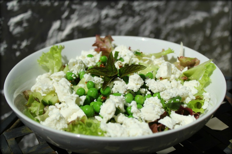 Pea, Mint and Feta Salad