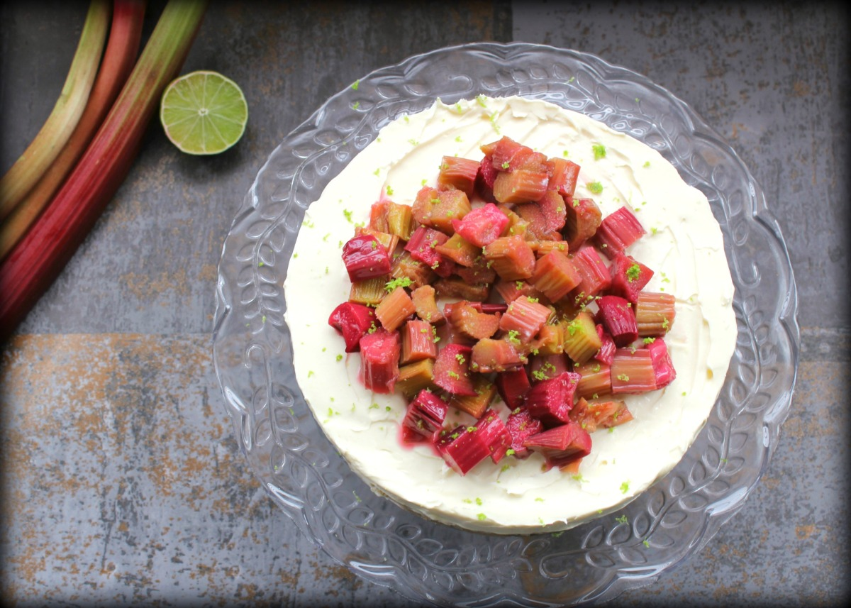 Rhubarb and Lime Cheesecake