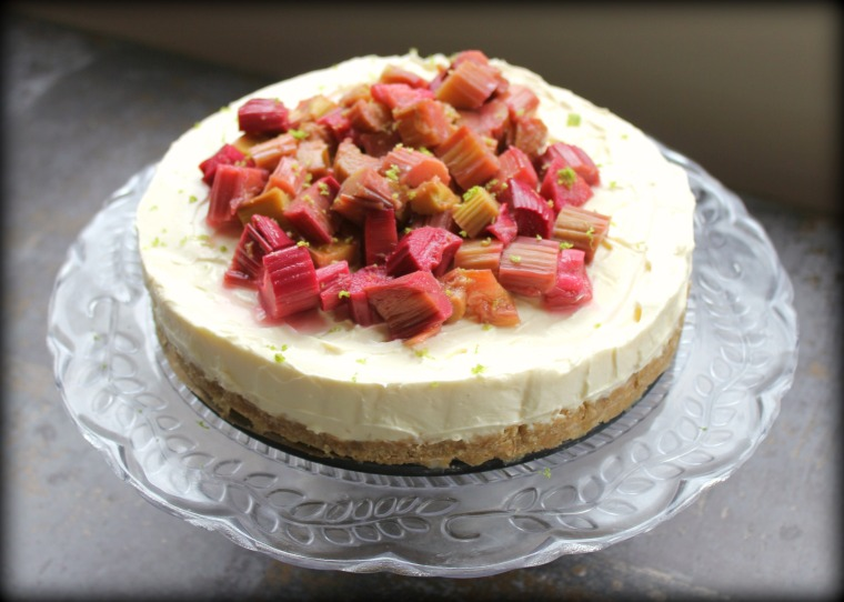 Rhubarb & Lime Cheesecake 3