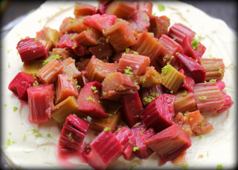 Rhubarb & Lime Topping