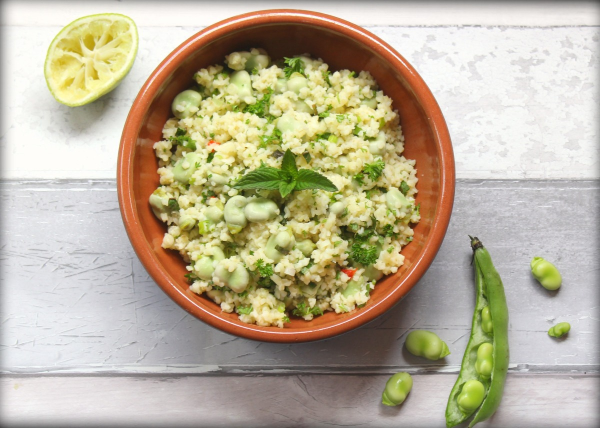 Broad Bean and Bulgur Wheat Salad
