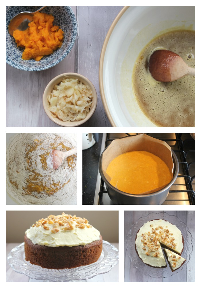 Pumpkin Apple Cake Collage